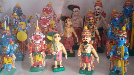 Little Indian Hand Made Figurines  of Hindu Gods and mythological characters