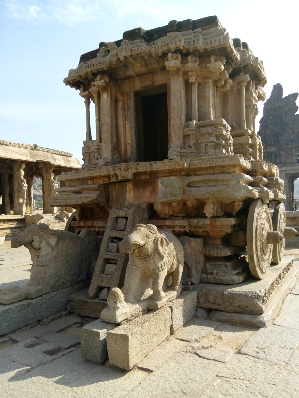 The iconic stone chariot at the Vittala temple complex.